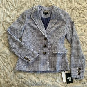 DKNY Blazer, Cornflower Blue Tweed, Size 0, NWT